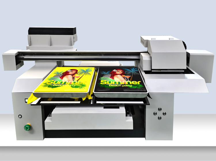 A1 A2 6560 6590 6090 Fast Speed 2 Print Heads Double Station Pattern Printing CMYKW T-shirt Printing Machine