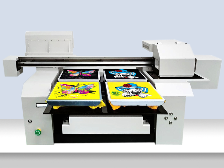 A1 6090 High Speed 2 Print Heads DTG Direct to Garment Cotton T-shirt Printing Machine