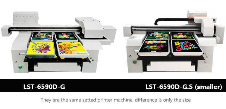 2 models of A1 DTG t-shirt printer machine