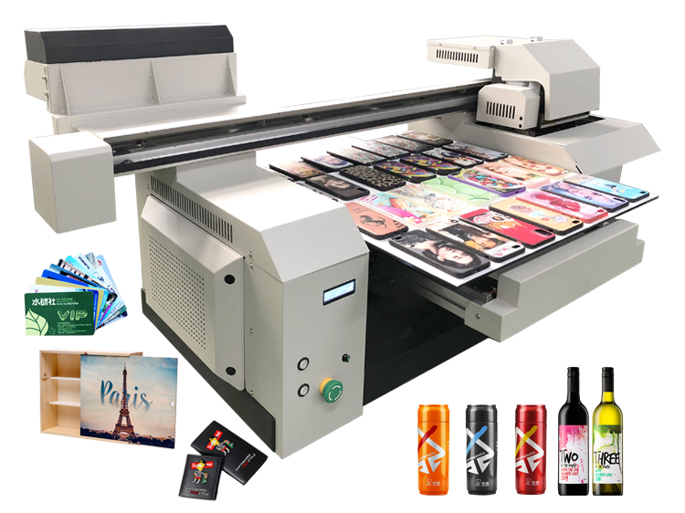 A1 6560 6090 Wide Format 2 or 3 Print Heads Gloss Varnish Acylic Directly Printing UV Flatbed Printer