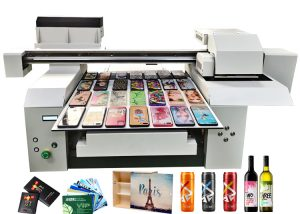 A1 UV flatbed printer machine for many bottle leather phone case wood acrylic and more gift items printing