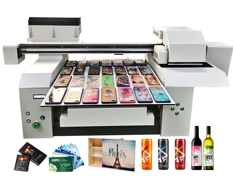 A1 6560 6090 Ad Store and Factory Using 2 or 3 Heads Wide Format Gift Items Printing Machine UV Printer