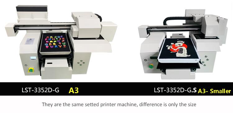 A3 size t-shirt DTG printer machine