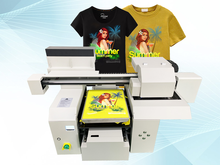 A3 t-shirt printer machine for dark and light color textile tshirts printing