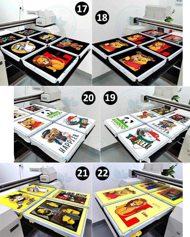 A1 size DTG printer t-shirt printing samples