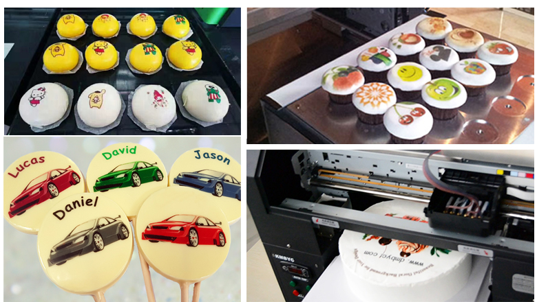 food printing images by food cake printer
