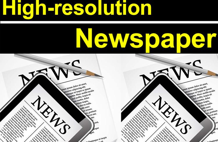 Newspaper UV printing