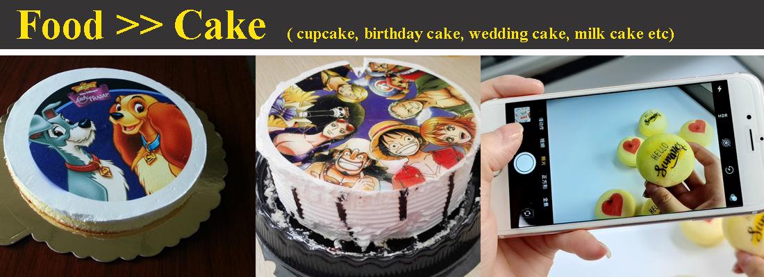 cake printing image printed by edible food printer machine