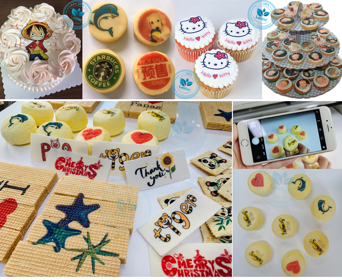 Food printer machine cake cookies bread printing image