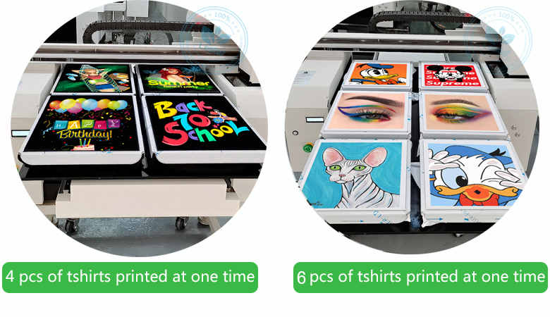 DTG printer 2 or 4 or 6 printing station