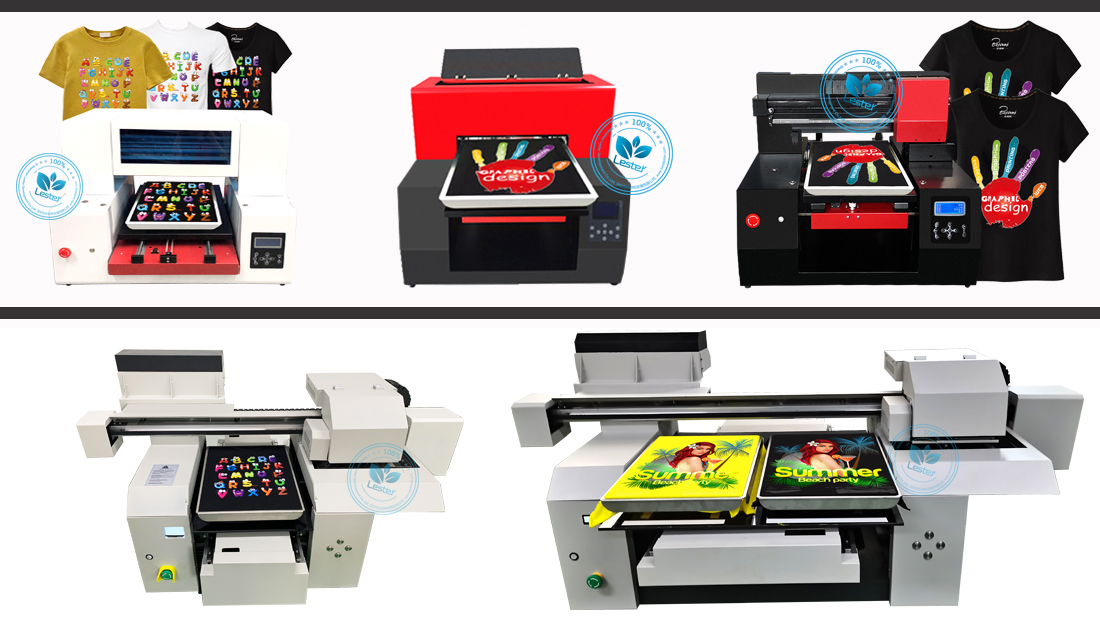 different kinds of t-shirt DTG printer machine A1 A2 A3