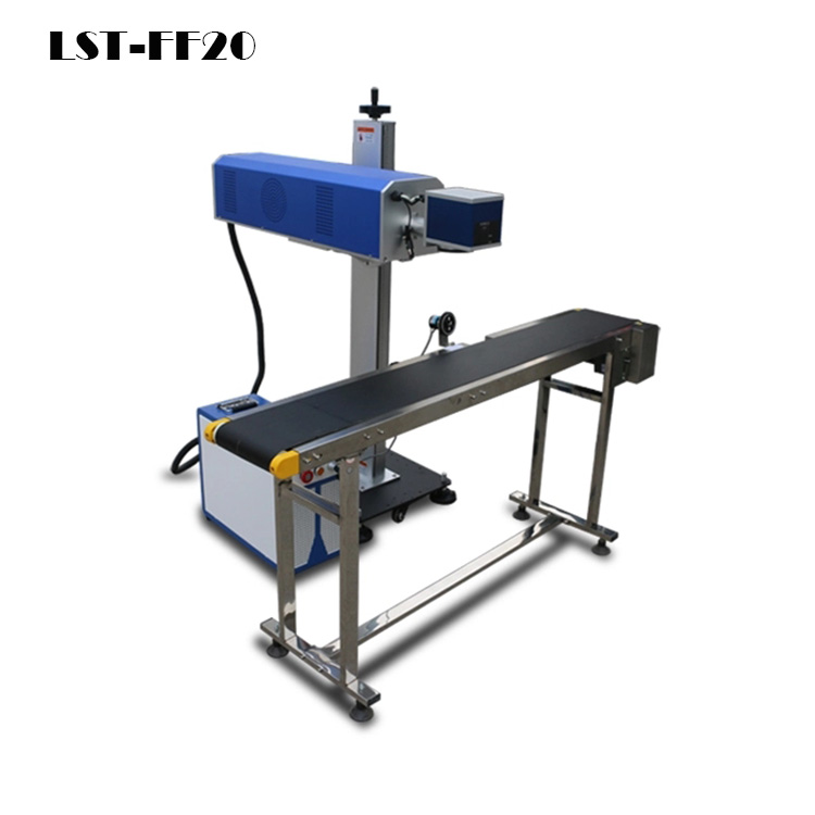 Laser flying fiber marking machine
