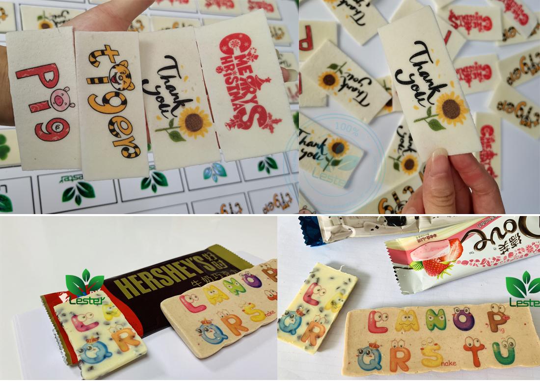 printed chocolate printing images by edible food printer machines