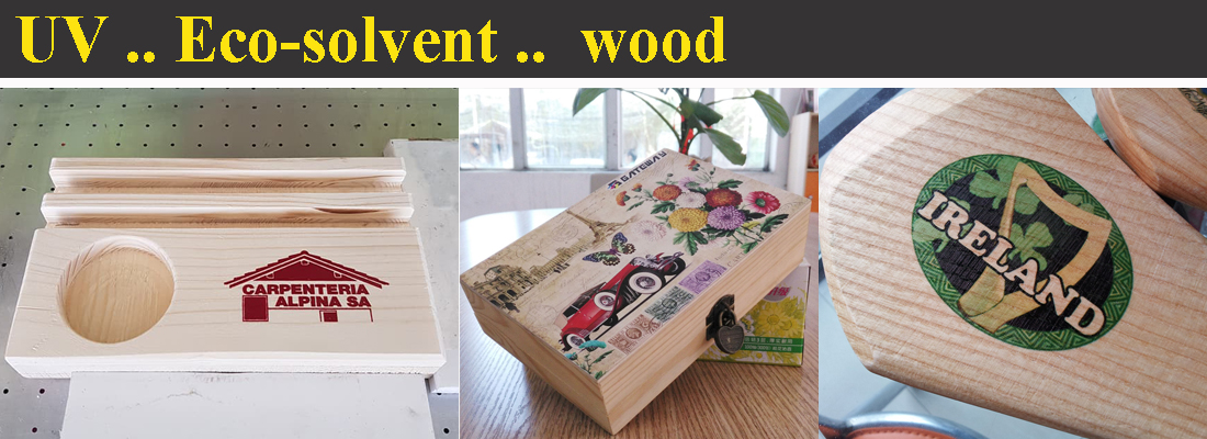 Wood Gift UV and Eco-solvent Printer