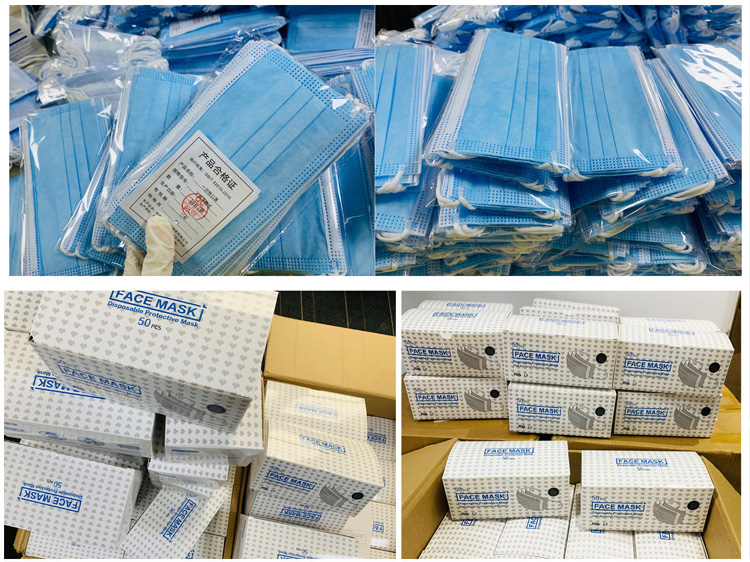 3 ply disposable protective face masks