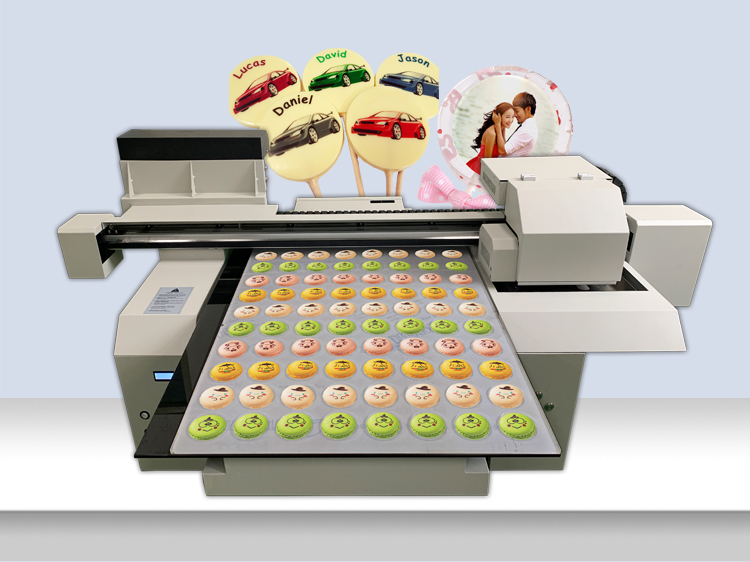 A1 size food macaron printer macaron grouply printing with C MY K edible ink 02