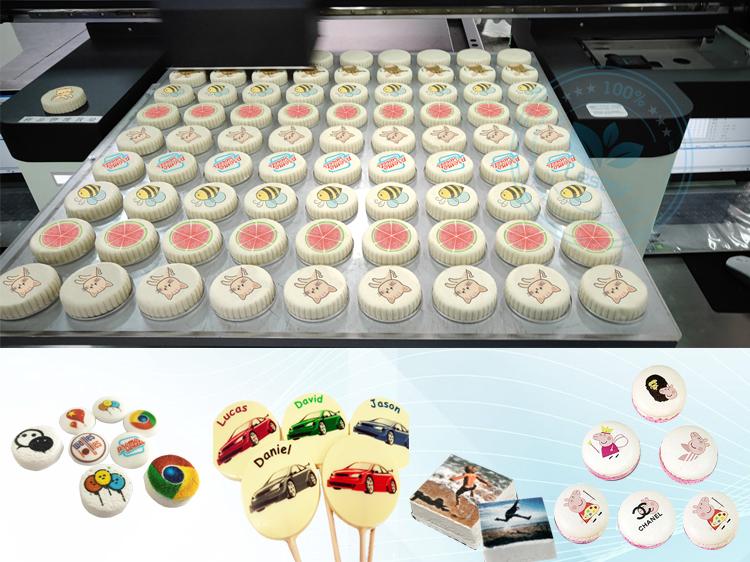A1 edible food flatbed printer machine for food cake chocolate printing