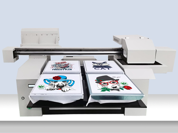 A1 6590 Fast Speed Cotton DTG Printer Machine 2 or 4 pcs of T-shirts Printing at One Time