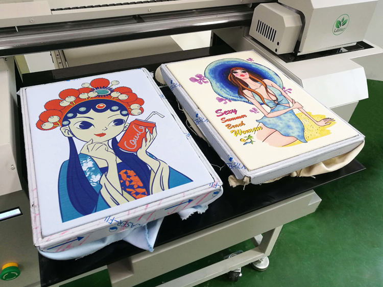 Canvas Cotton Shopping Bag printing image by DTG Printer Machine