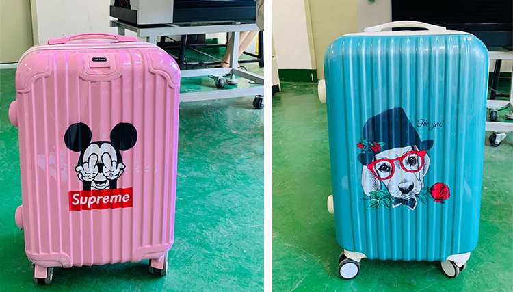 UV Printer Travelling Trolley Suitcase Luggage Printing