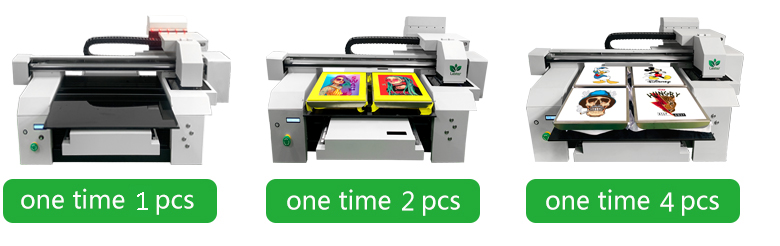 DTG printer machine one time 1 or 2 or 4 pcs of tshirt printing