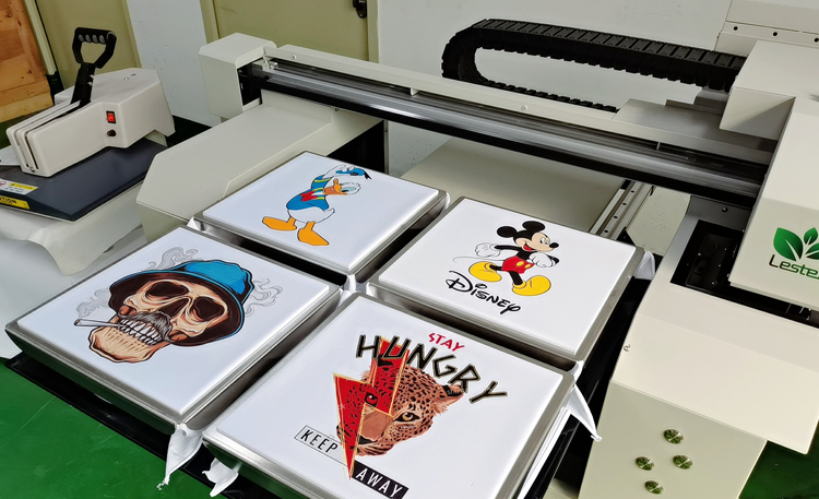 02 Free Sample 2 or 4 Station T-shirt Printer Machine
