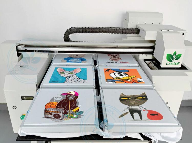 tshirt printing machine 6 pcs of tshirt printing