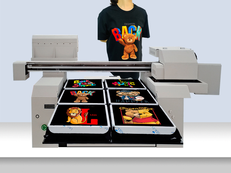 A1+ Large Size 6590 Multicolor 6 Printing Station Cotton Inkjet t-shirt Printer Machine