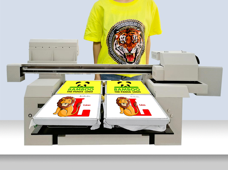 A1+ Large Size 6590 Fast Speed 4 or 6 Station Inkjet DTG t-shirt Printing Machine Made in China