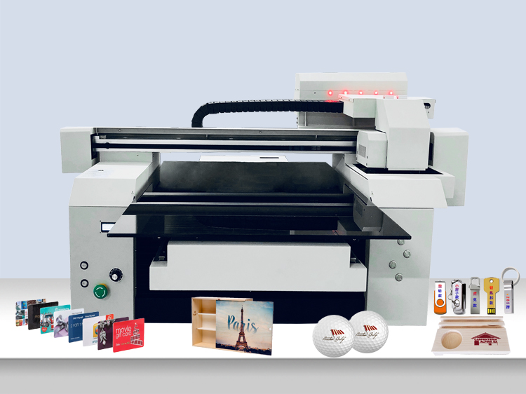 A1 6590 6090 Wide Format 2 or 3 Print Heads Gloss Varnish Printing UV Flatbed Printer Machine Manufacturer